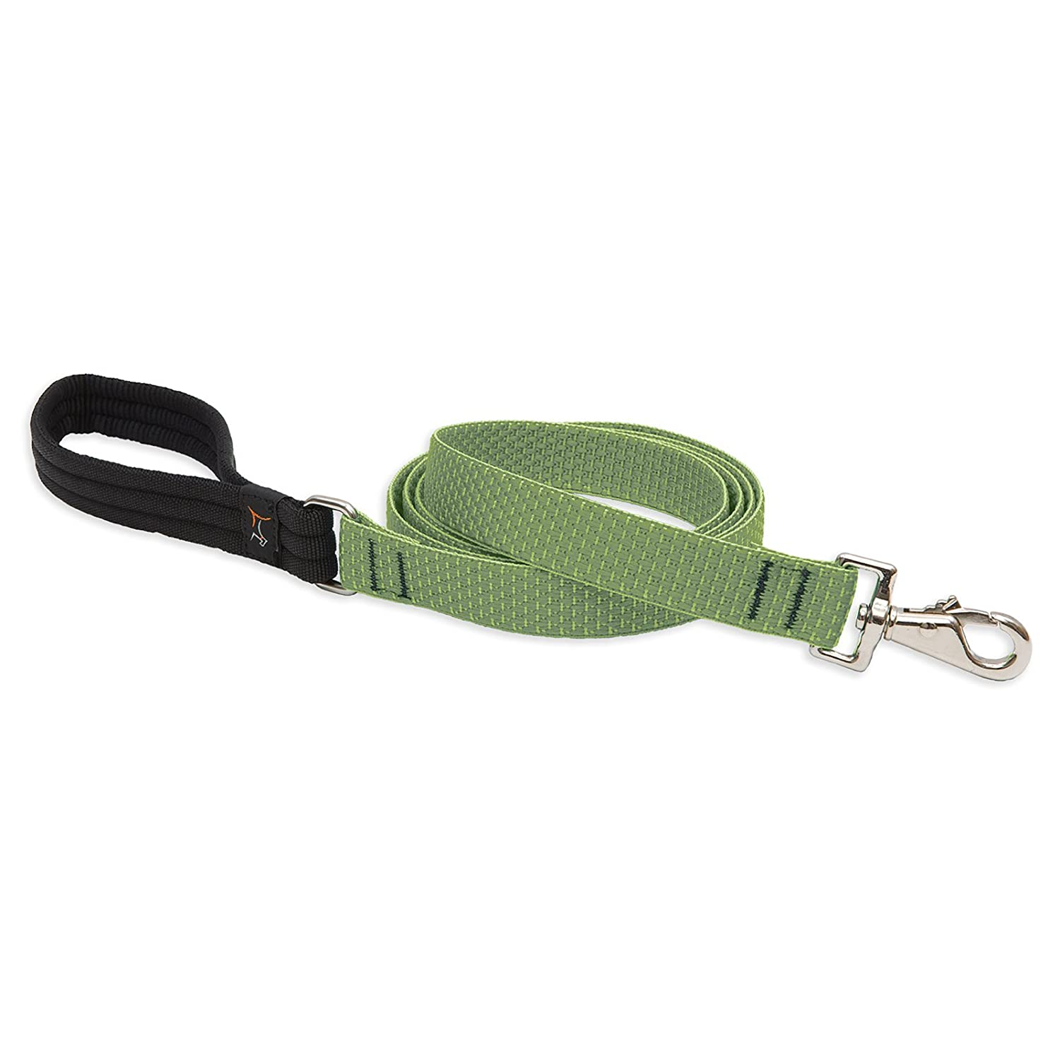 Lupine Eco 1-Inch Recycled Fiber Padded Handle Leash for 6-Feet Medium to Large Dogs, Moss