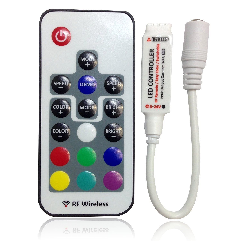 sodial controleur regulateur rf telecommande variateur pour led rgb bande dc 5 24v. Black Bedroom Furniture Sets. Home Design Ideas