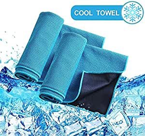 1Pcs Cooling Towel Instant Relief Ice Cold When Wet Soft Bamboo Microfibres for Fitness Gym Yoga