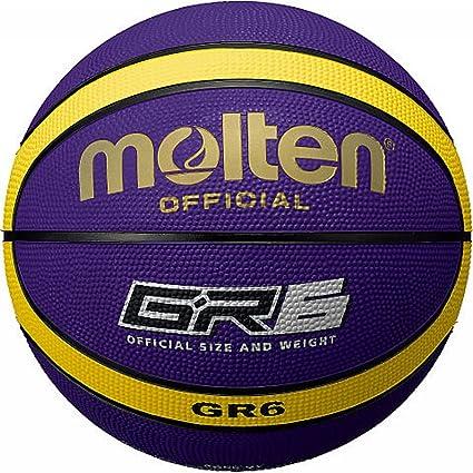 MOLTEN BGR-VY Rubber Basketball - Pelota de Baloncesto, Color ...
