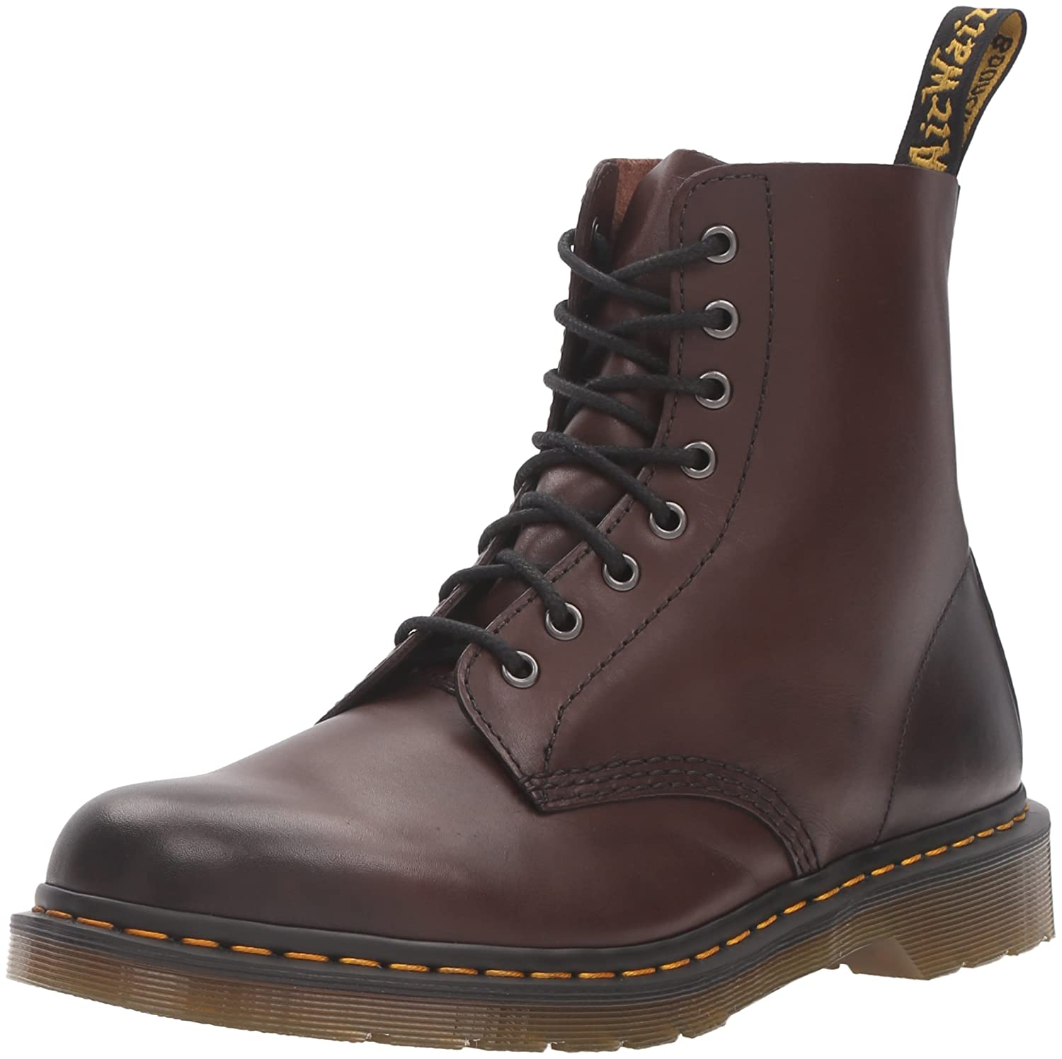 Dr. Martens Women's Pascal Leather Combat Boot B01AKWEBMA 12 UK/13 M US|Brown