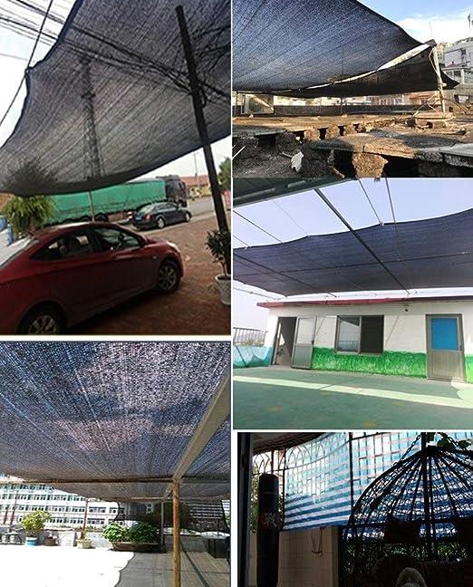 Malla de Sombra 8 Pines Sombreado Neto Paño De Protección Solar para Cubrir Pérgola, De Efecto Invernadero, Granero O De La Perrera, Negro - Tasa De Sombreado 90% (Size : 5x5M): Amazon.es: Hogar