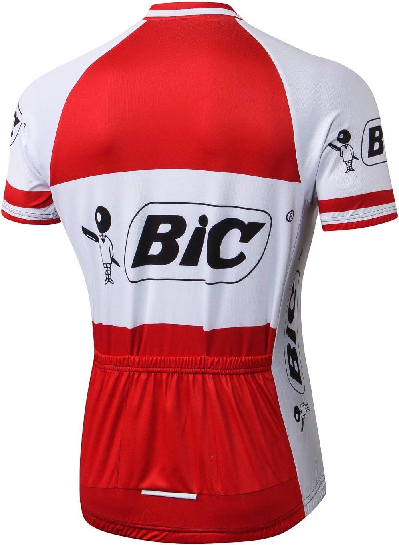 Alpediaa Maillot Ciclismo Hombres,BIC Maillots de Bicicleta ...