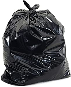 55 Gallon 4mil Contractor Toughest Most Durable Trash Bags, Heaviest Duty Strength, Puncture Resistant Trash Can Liners, 55gal Large Garbage Bags, (35 Count)