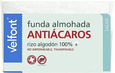 Funda Almohada Antiácaros Velfont 90: Amazon.es: Hogar