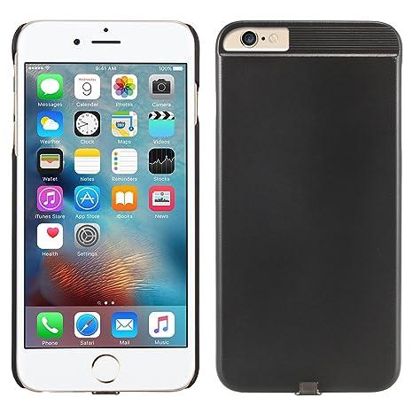 Alienwork Funda para iPhone 6/6s QI Receptor Cargador Inalámbrico Protectora Bumper Case Prueba de choques Plástico Negro AP6S32-01