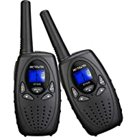 Retevis RT628 VOX UHF Portable 8 Channel FRS Kids Walkie Talkies (Black,1 Pair)