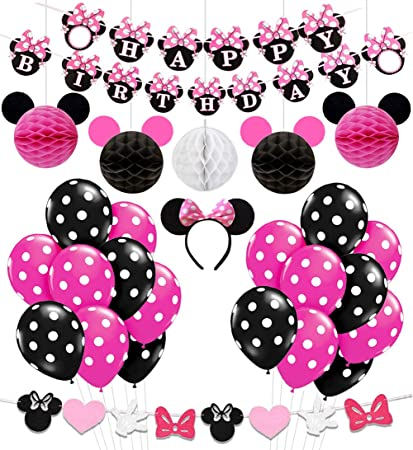 Amazon Minnie Mouse Birthday Party Supplies Decorations For Girls 1st 2nd 3rd Baby Shower Toys Games