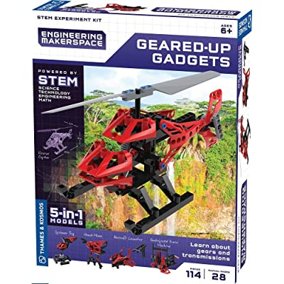 Thames & Kosmos Engineering Makerspace Geared-Up Gadgets Science Experiment Kit: Toys & Games