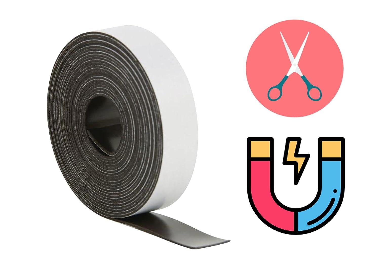 Nastro magnetico adesivo, resistente, 2500 mm di lunghezza, 15 mm di larghezza, per strisce magnetiche 2500mm di lunghezza 15mm di larghezza TK Gruppe Timo Klingler