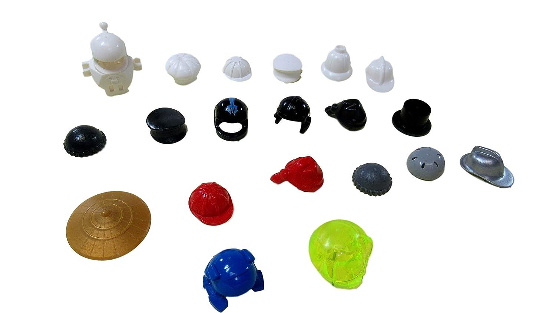 Includes 20 Helmets /& Hats as shown LEGO Minifigure Headgear Accessory Pack