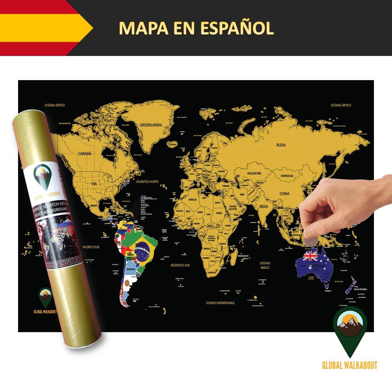 Global Walkabout ESPAÑOL - Mapa De Raspaditos Con Fondo De ...