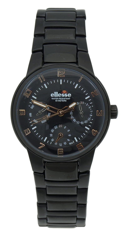 Elesse Unisex-Armbanduhr Analog Quarz Edelstahl 639278BKW