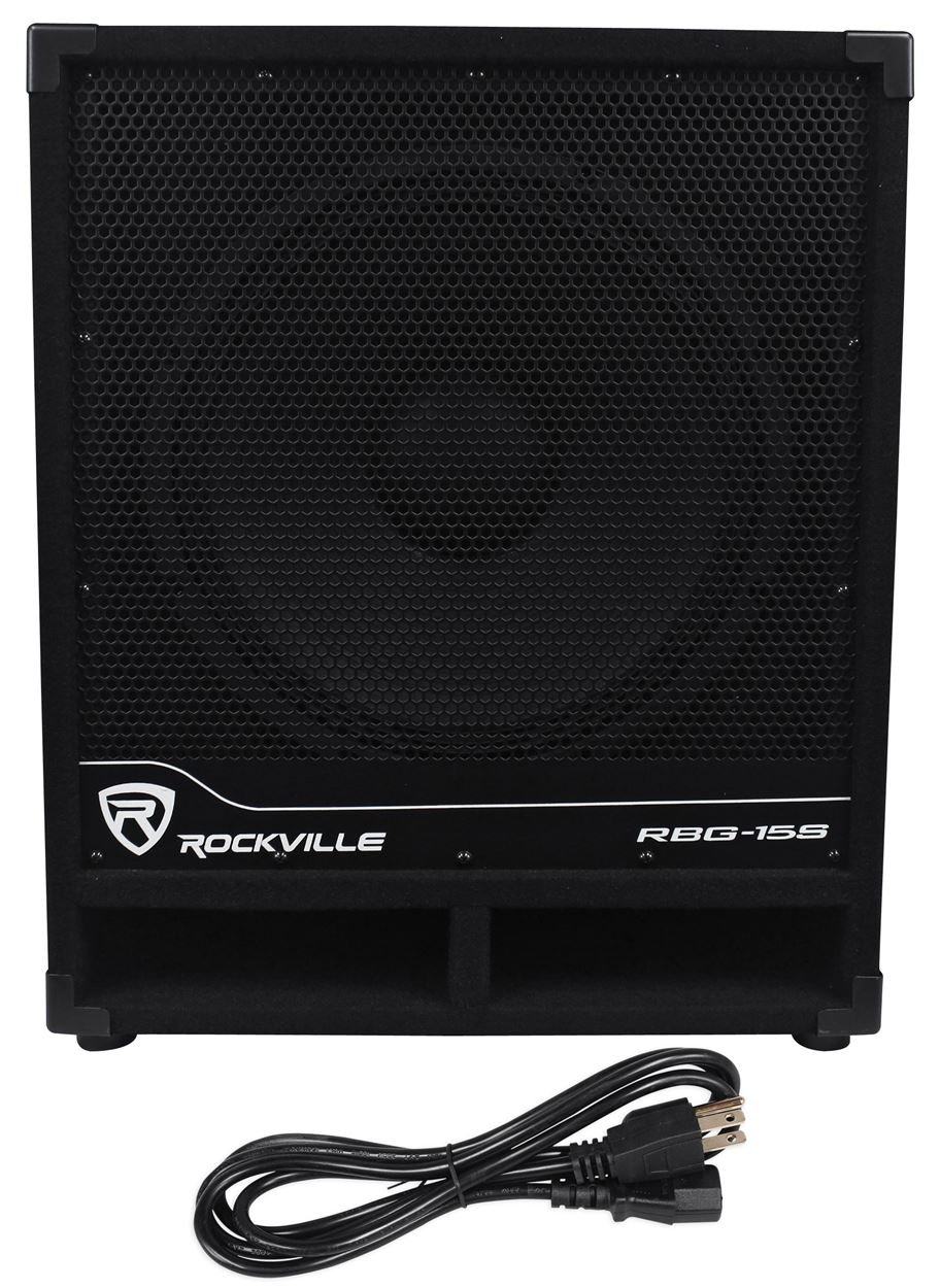 Rockville RBG15S 1600w Active Powered PA Subwoofer w/DSP + Limiter Pro/DJ, 15 inch by Rockville
