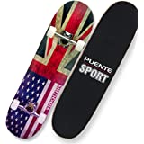 Complete Standard Skateboard,Made of Maple Wood Suitable for Kids and Adults