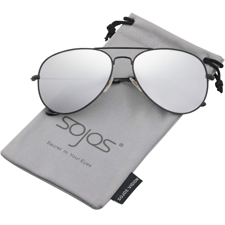 SOJOS Gafas De Sol Para Hombres Y Mujeres Clásico Marco Metal Lentes Espejo Polarizadas SJ1054 product