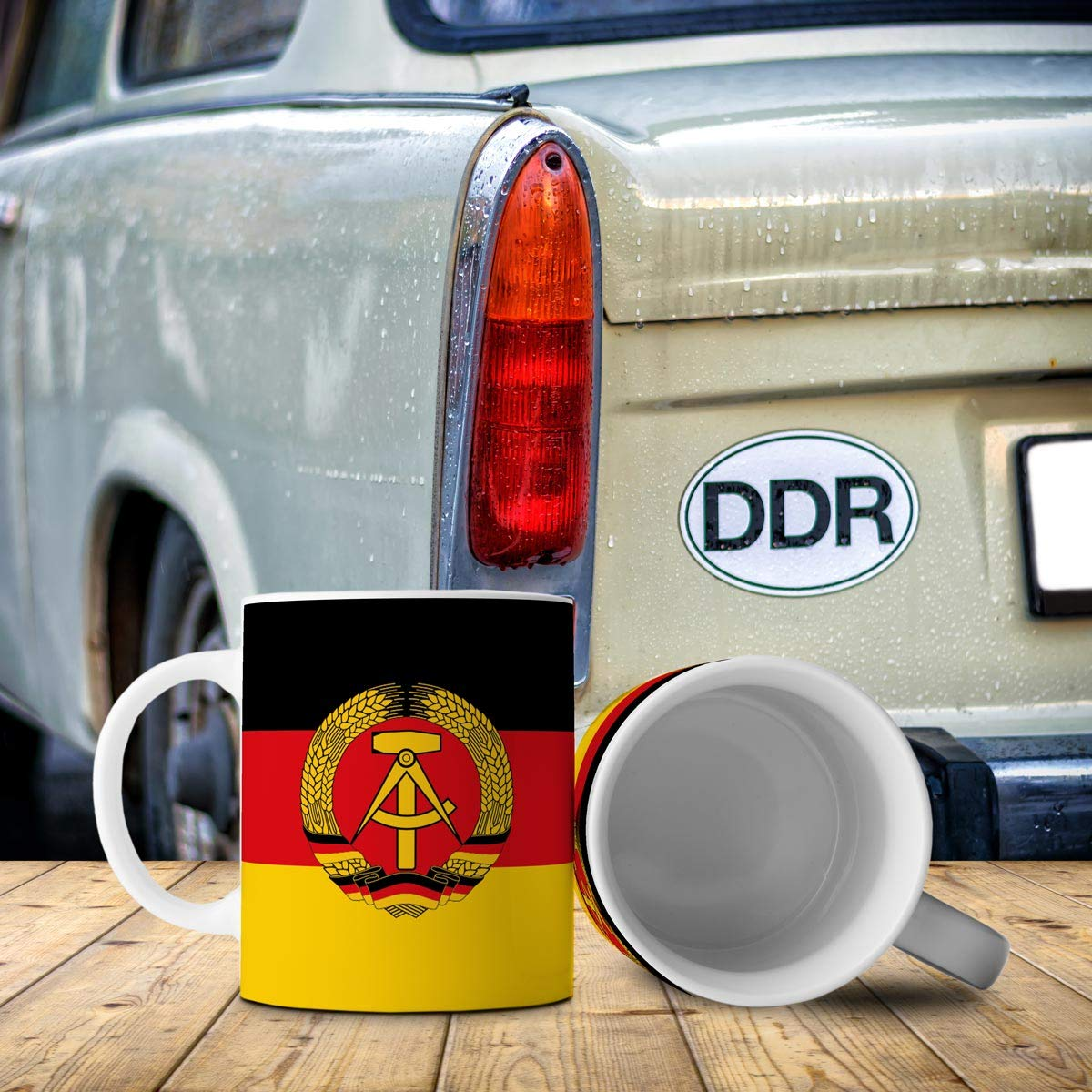 Ostalgie Geschenkidee Fahnen Kaffee Tasse-DDR
