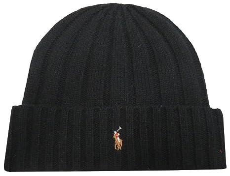 Ralph Lauren Polo Men s Skull Cap Hat Beanie Solid Black 11d592d7d801