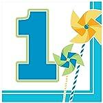 Creative Converting Circus Time Servilletas para el primer cumpleaños, 16 unidades