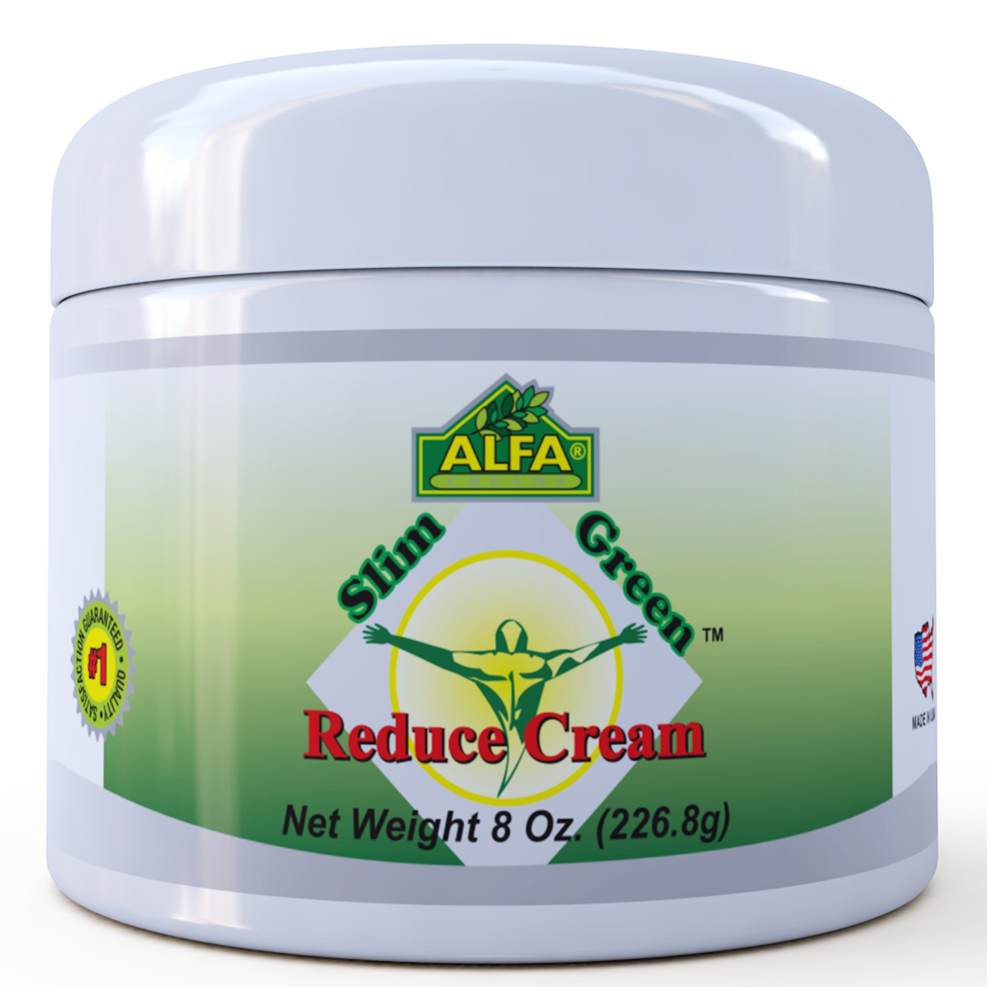 Premium Slim Green Reduce Cream By Alfa Vitamins - Weight Loss & Fat Burning Support For