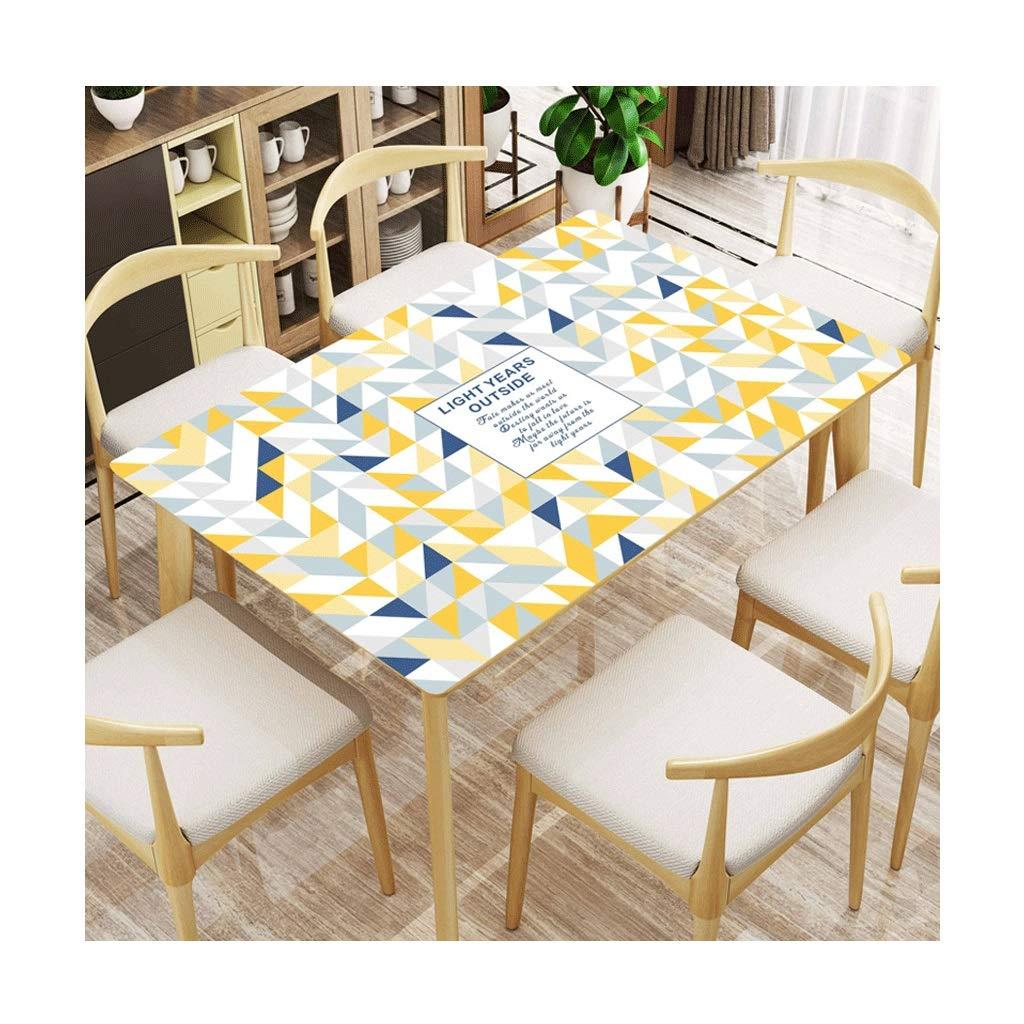 LIGONG レストランデスクトッププロテクター防水pvc柔らかいガラステーブルマットテーブルクロスに適しテーブルコーヒーテーブル黄色マルチサイズ (サイズ さいず : 90*160センチメートル) 90*160センチメートル  B07RYH1Y9S