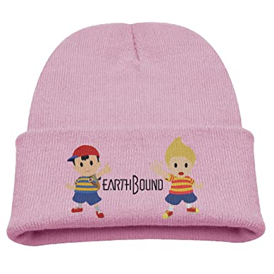 642e21fda11 Amazon.com  Earthbound Ness And Lucas Mother Warm Winter Hat Knit Beanie  Skull Cap Cuff Beanie Hat Winter Hats Kids  Clothing