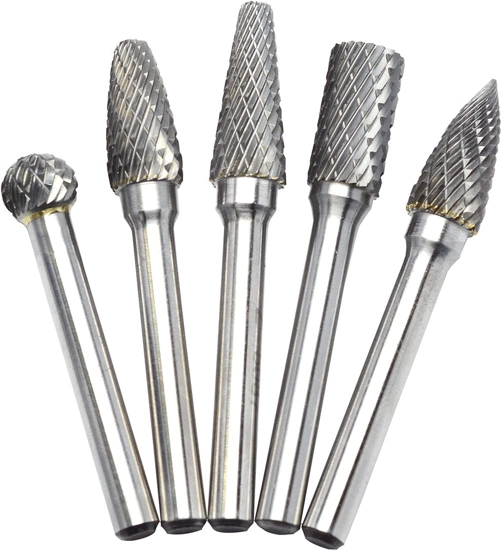 6mm Shank Tungsten Carbide Rotary Point Burr File Die Grinder Drill Bit Head AU