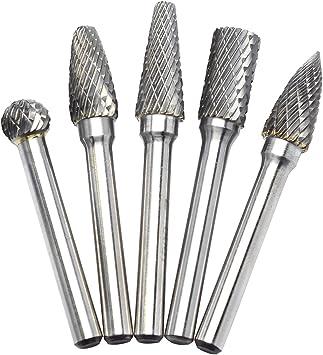10 PCS 3 x 6 mm Tungsten Steel Solid Carbide Burrs Rotary Drill Bit Tool #d