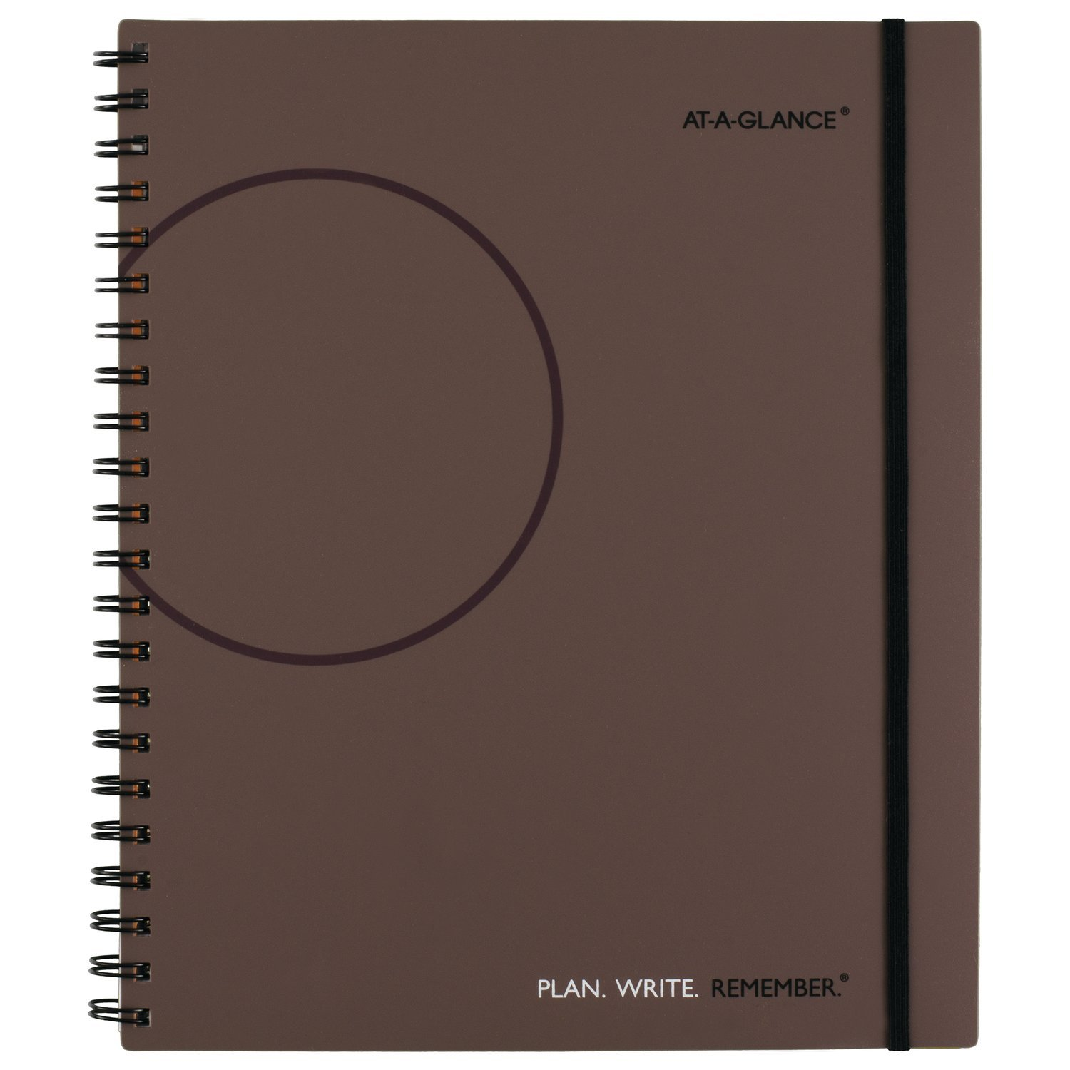 AT-A-GLANCE Planning Notebook with Reference Calendars, Plan.Write.Remember.,  8-1/2'' x 11'', Medium, Undated, Gray (70620930)