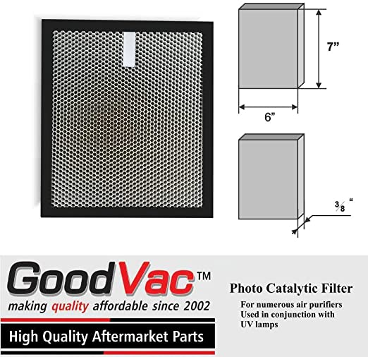 Filtro de aire para purificador foto catalítico de óxido de titanio. Se ajusta a muchos purificadores (ver descripción): Amazon.es: Hogar