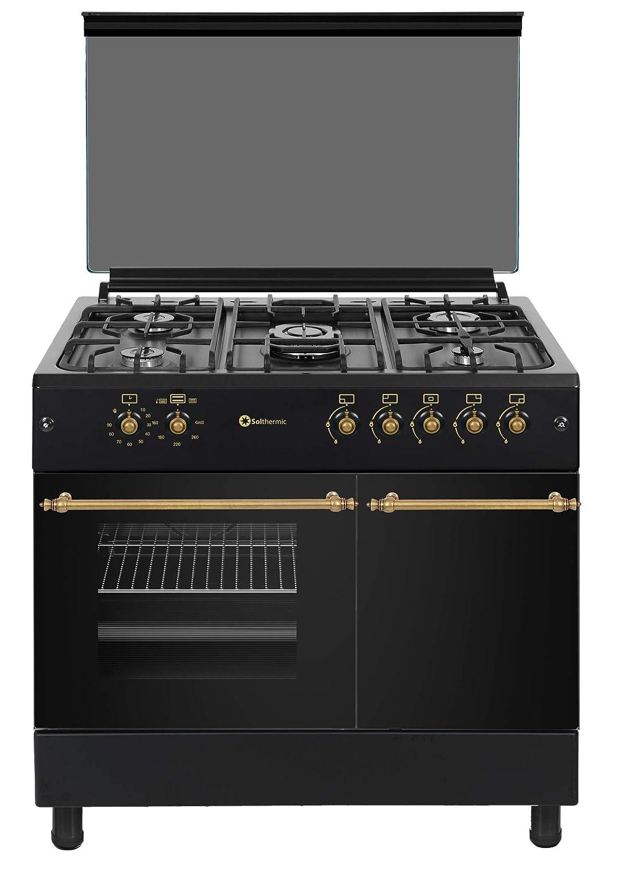 Cocina SolThermic F9LT50G2 NEGRA PORTABOMBONA parrilla esmaltada.