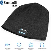 Bluetooth Beanie Hat,Wireless V5.0 Superior Music Skully Beanie Hat Washable Knitted Cap with Headphone Headset Earphone…