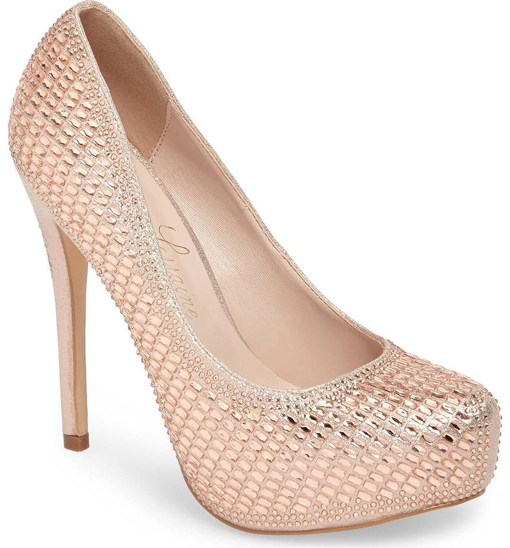 Lauren Lorraine Vanna5 Vanna5 Rose Gold Platform Pump Embellished Shimmering Crystals B079J63Z1C 9.5 B(M) US