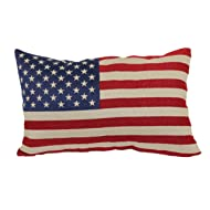 Brentwood Originals 8377 American Flag Tapestry Toss Pillow, 13-Inch