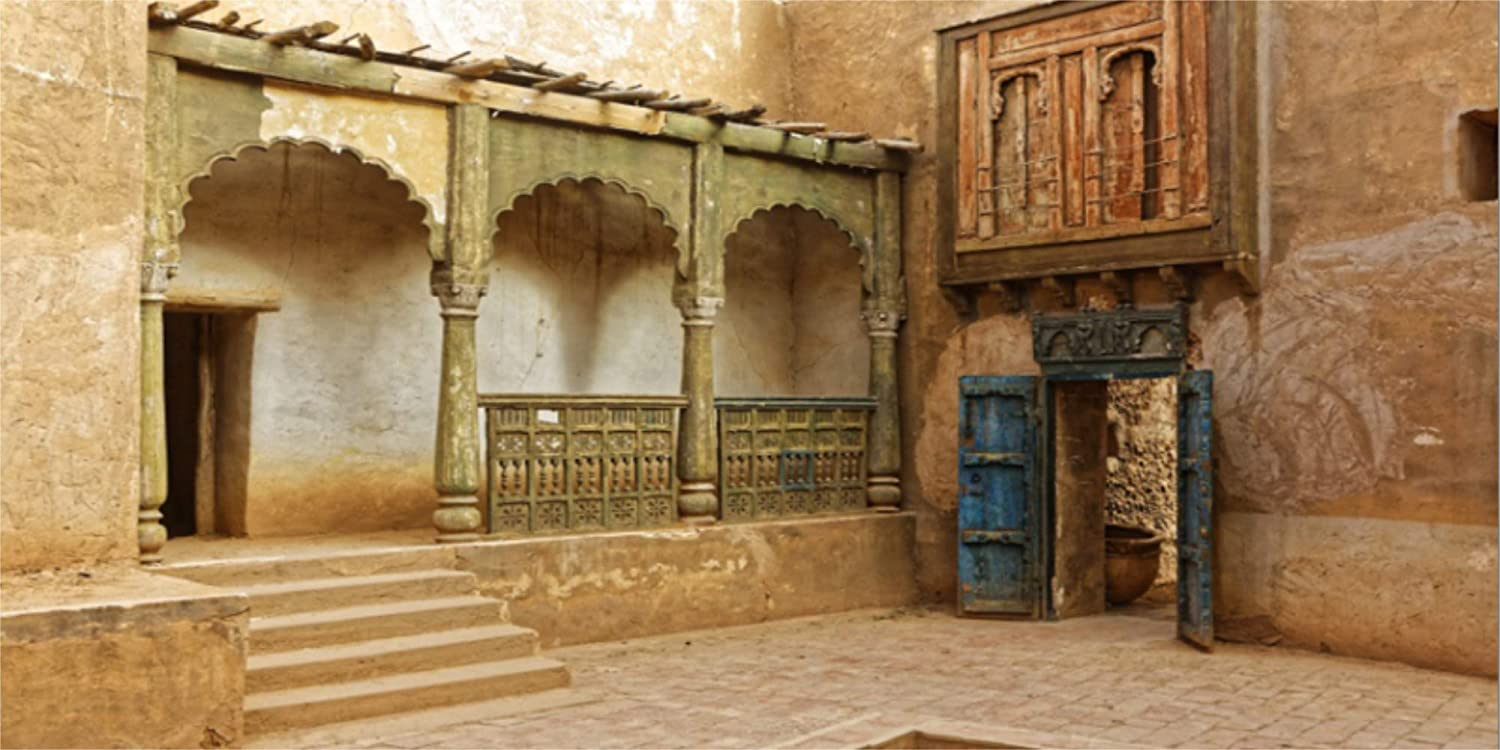 LFEEY 20x10ft Morocco Abandoned Town Backdrop Old Ancient Deserted City Ruin Architecture Building Grunge Stone Wall Photography Background Travel Photo Studio Props