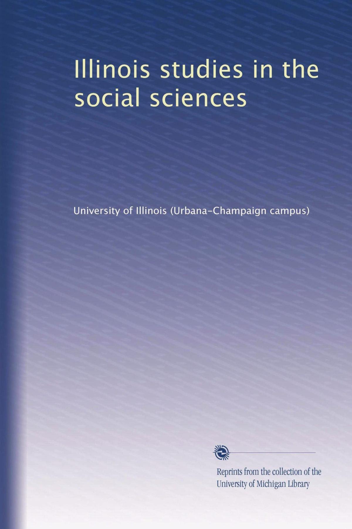 Illinois studies in the social sciences pdf