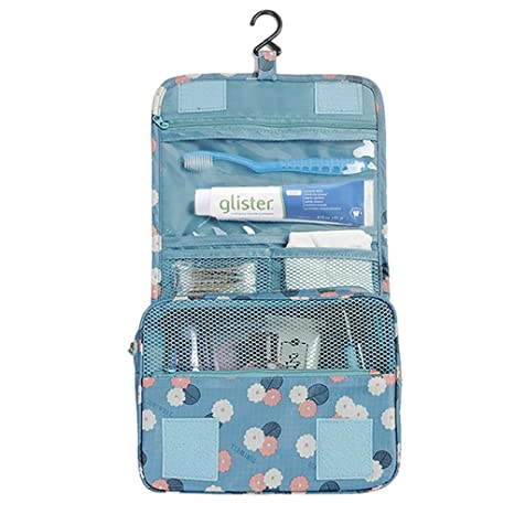 8b96cfd9784e Wastar® Portable Travel Toiletry Bag Storage Organizer Pouch With Sturdy  Hanging Hook