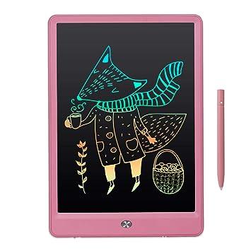 EooCoo LCD Tableta de Escritura 10 Pulgadas Pizarra Digital Electronica Niños Bloc de Notas Doodle Pad con Pantalla Colorida y Tecla de Bloqueo, para ...