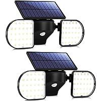 Luz Solar Exterior Foco Solar con Sensor de Movimiento Impermeable IP65 360 ° Ajustable para Garaje Patio y Jardín…