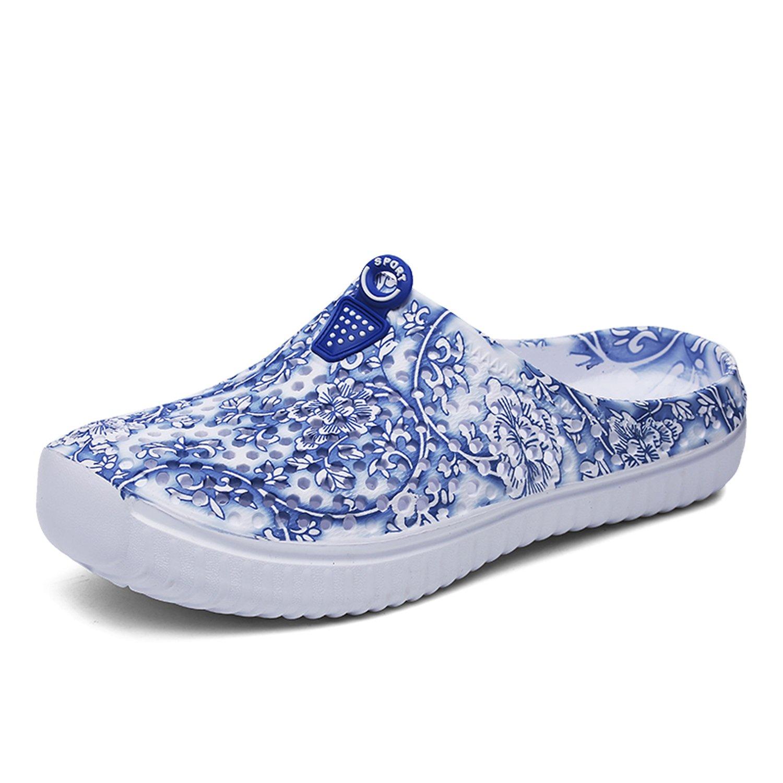 Sintiz Womens Quick-Dry Garden Clogs Shoes Comfort Walking Sandal Slippers Non-Slip Beach Shower Water Shoes Blue 6.5 B(M) US