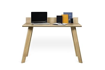 amazon com tema home loft office desk oak pure black kitchen