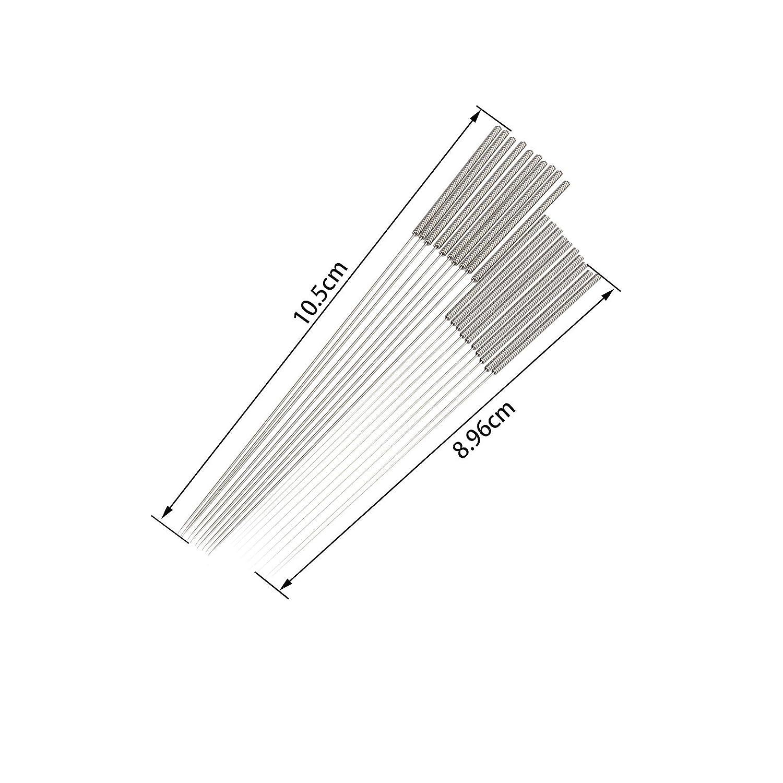 Lot de 22 10 aiguilles de 0,35 mm et 1 pince /à /épiler coud/ée 1 pince droite pour imprimante 3D Kit de nettoyage de buse d/'imprimante 3D en acier inoxydable avec 10 aiguilles de 0,4 mm