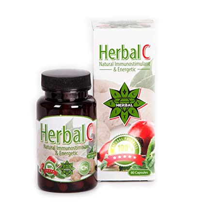 Herbal C - Cvetita Herbal UK - 80 cápsulas de una combinación de vitamina C +