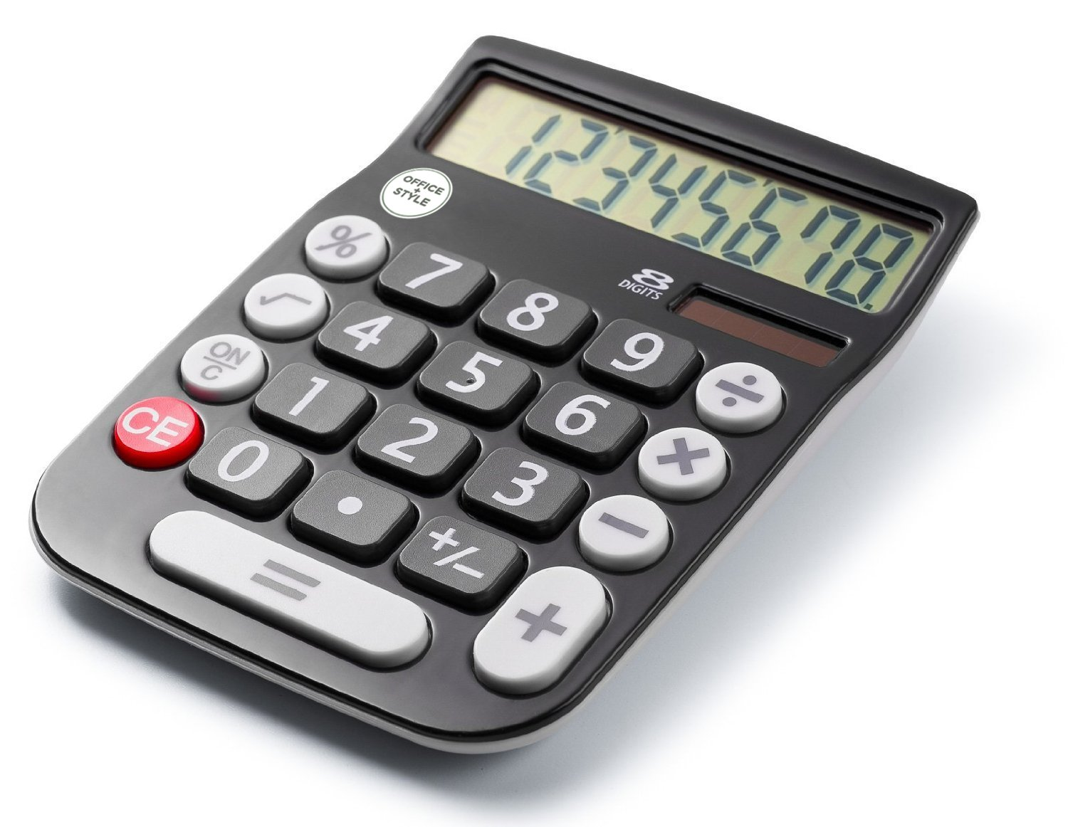 Office Style 8 Digit Dual Powered Desktop Calculator, Large LCD Display, Black (Pack Of 6) by Office Style (Image #4)