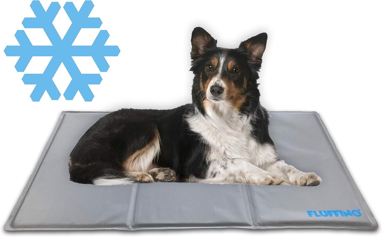 FLUFFINO Esterilla de refrigeración Autoenfriante, Antideslizante, Lavable y Resistente a los arañazos (90 x 50 cm; Gris) – para Perros Grandes y pequeños, Gatos u Otros Animales domésticos: Amazon.es: Productos para mascotas