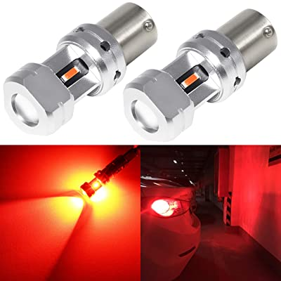 Phinlion 1156 LED Red Brake Light Bulb 3600 Lumens Super Bright 3497 1156 7506 LED Bulbs for Car Truck RV Motorcycle Tail Stop Turn Signal Blinker Lights: Automotive