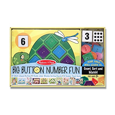 Melissa & Doug Big Button Number Fun Counting and Matching Activity Set: Melissa & Doug: Toys & Games