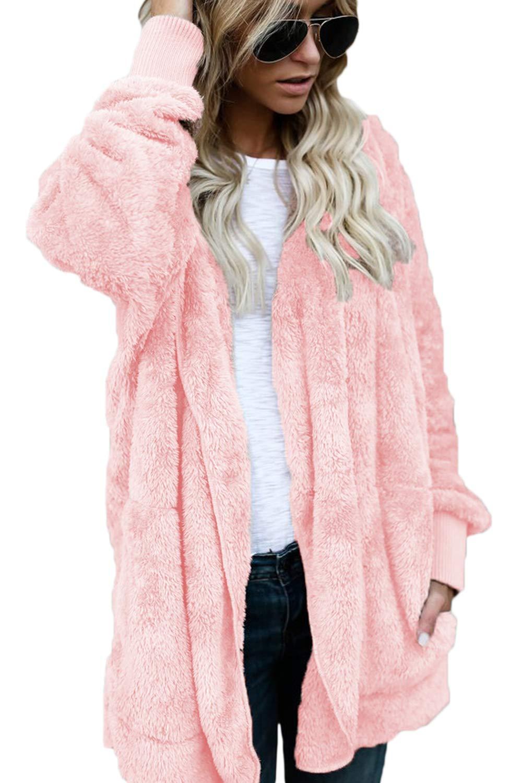 Women Hoodie Winter Casual Plus Size Baggy Furry Cardigan Coats