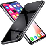 Guchoi Compatible iPhone Xs MAX Case, Full Corners Protection Flexible TPU Anti-Slip Shockproof Protective Case Support Wireless Charging - Clear/Black