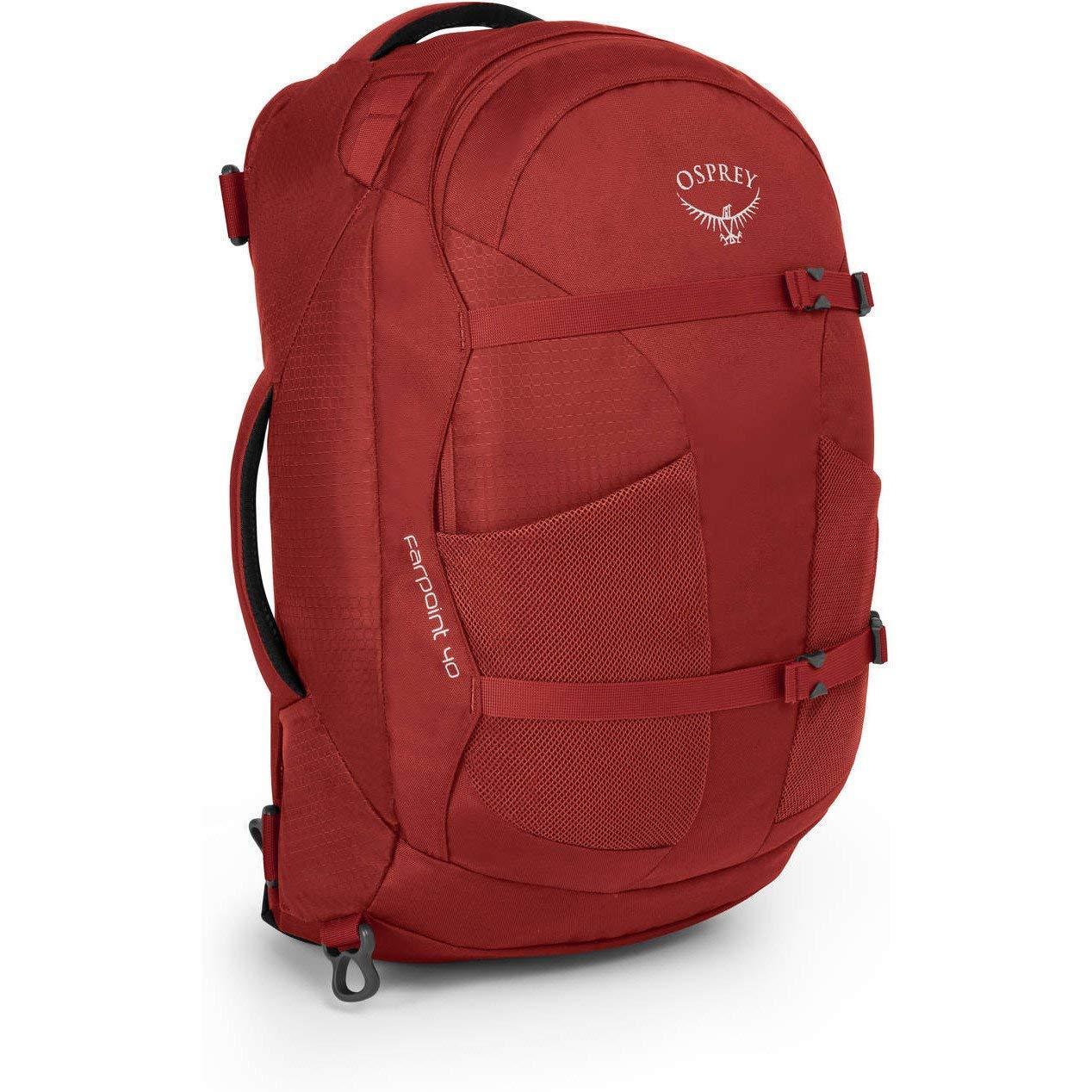 Osprey Packs Farpoint 40 Travel Backpack, Jasper Red, Small/Medium